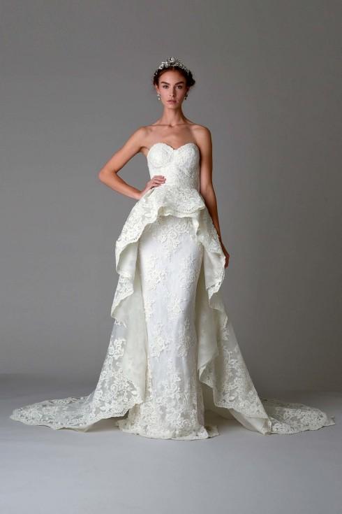 Một trong những mẫu đầm cưới đẹp nhất thế giới trong mùa thời trang cưới Thu-Đông 2016.