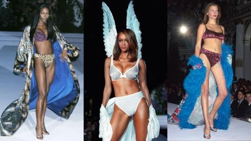 Naomi Campbell, Tyra Banks, Bridget Hall