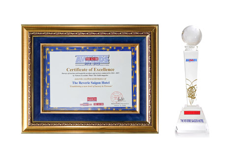 The Guide Award 2014-2015 - Certificate & Trophy