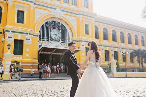 chụp ảnh cưới cô dâu chú rể