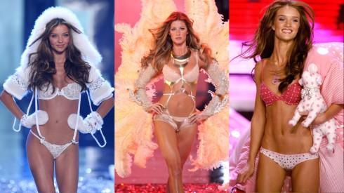 Chắc chắn bạn sẽ rất khó cưỡng nổi vẻ ngọt ngào của những thiên thần Victoria's Secret. Từ trái qua: Gisele Bundchen, Miranda Kerr, Rosie Huntington-Whiteley