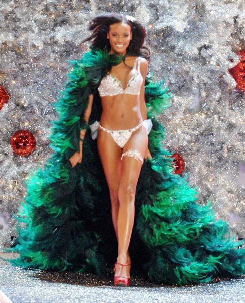 Selita Ebanks trong bộ Holiday Fantasy Bra năm 2007