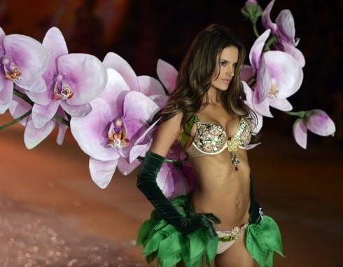 Alessandra Ambrosio như nàng tiên hoa ngọt ngàovới bộ Floral Fantasy Bra.