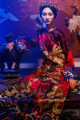 Những gợi ý diện áo dài cưới phong cách xưa