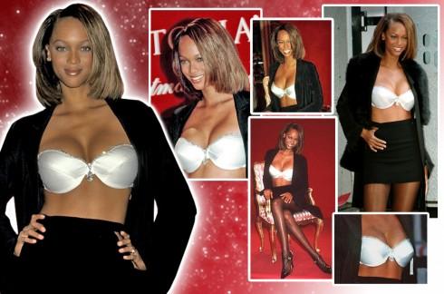 Bộ Diamond Dream Bra do người mẫu Tyra Banks trình diễn năm 1997