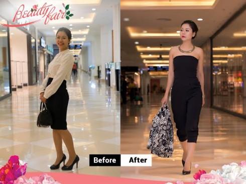 """Nguyễn Thúy Phương, trước và sau khi được chuyên gia tư vấn trong chương trình  """"Đến Vincom – Đẹp mỗi ngày"""""""
