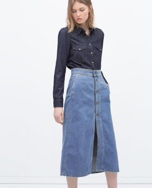 Chân váy Midi Jeans là một món đồ không thể không có trong tù đồ của các cô nàng yêu thời trang