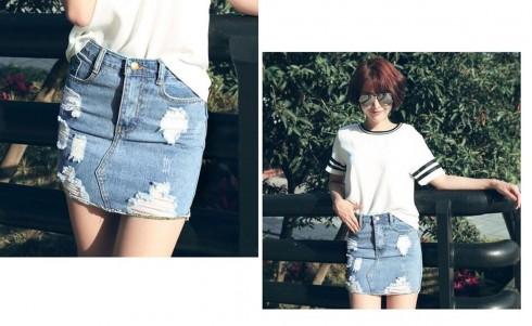 Hãy phá cách với jeans rách như cô nàng cá tính đáng yêu này nhé