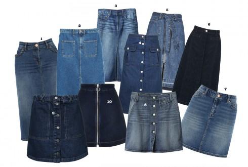 chan vay midi jeans