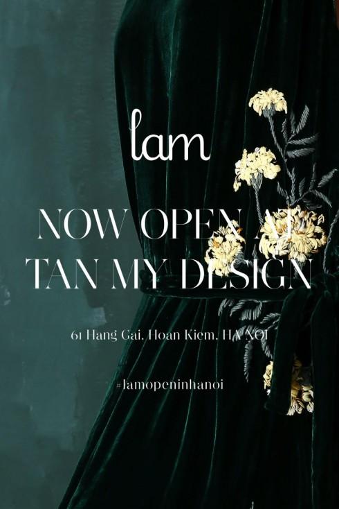 Lam khai trương cửa hàng đầu tiên ở Hà Nội tại Tân Mỹ Design