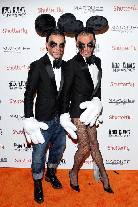 Hai nhà thiết kế của thương hiệu DSQUARED2 hóa trang thành cặp đôi Mickey Mouse