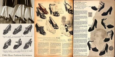 Catalogue mẫu giày của phụ nữ.