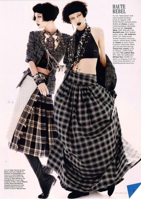 Grunge dù bị các nhà phê bình thời trang xem là rẻ tiền, vẫn được ngành công nghiệp thời trang biến chuyển thành một phong cách ăn mặc độc đáo. Đây là những thiết kế của Chanel.