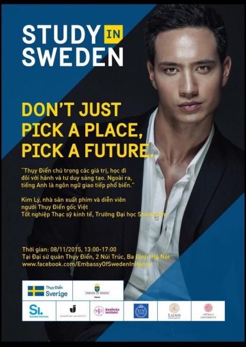 DV Kim Lý làm Đại sứ Thiện chí cho chương trình học tập, nghiên cứu tại Thụy Điển.