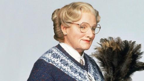 Robin Williams trong Mrs. Doubtfire, một trong những vai diễn đem lại cho ông một Quả Cầu Vàng năm 1994