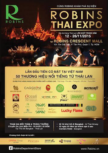 Hội chợ mua sắm Robins Thái Expo mang đến những mặt hàng chất lượng cho người tiêu dùnh