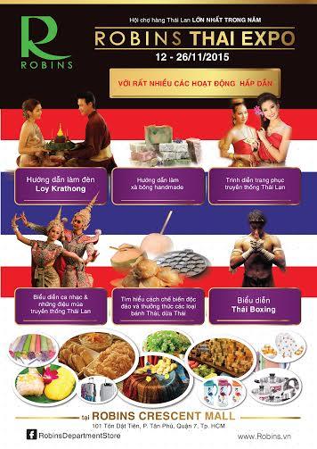 Chương trình là sáng kiến của Trung tâm mua sắm Robins trong việc tạo nên cầu nối gắn kết các thương hiệu Thái Lan với người tiêu dùng Việt Nam