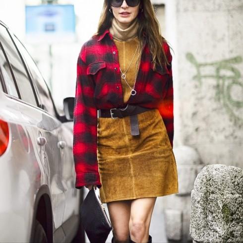 Trang phục da lộn sẽ trở nên rất sành điệu nếu bạn biết phối trang phục tinh tế