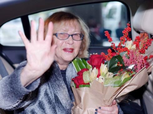 bà Phó chủ tịch Đại học Nghệ thuật Mỹ Gladys Perint Palmer cũng đã có mặt tại Việt Nam