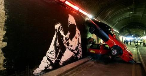 Triễn lãm tranh của Banksy dưới mộtđường hầm bỏ hoang ở London