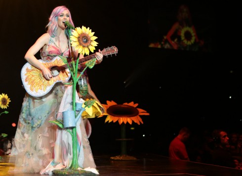 <br/>BELFAST, UNITED KINGDOM - MAY 07: Katy Perry performs on stage on the opening night of her Prismatic World Tour at Odyssey Arena on May 7, 2014 in Belfast, Northern Ireland. (Photo by Christie Goodwin/Getty Images)