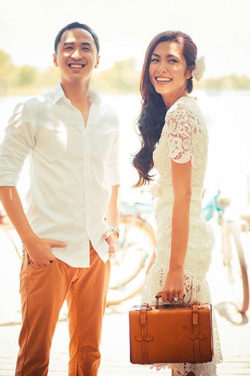 Tăng Thanh Hà và Louis Nguyễn hạnh phúc trong ảnh cưới vào năm 2012