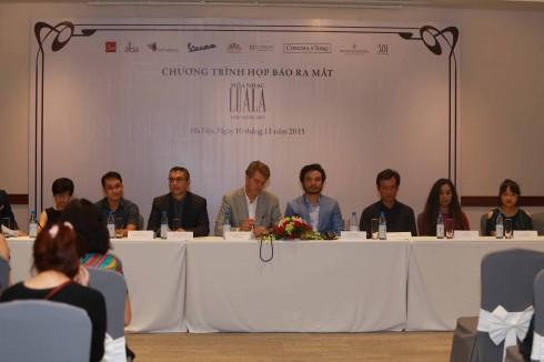 Đại diện Ban tổ chức và các nghệ sĩ tham dự LUALA concert 2015.