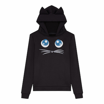 KARL AROUND THE WORLD via STYLEBOP.com_Choupette Big Eyes Hoodie_