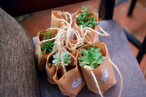 Món quà nhỏ dành tặng khách mời cũng vô cùng dễ thương và gần gũi với thiên nhiên.