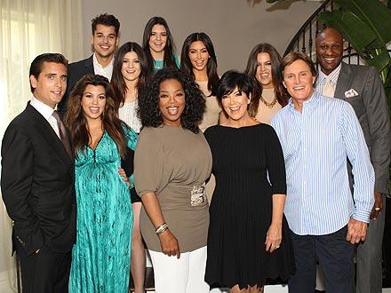 Oprah Winfrey chụp hình cùng gia đình nhà Kardashian