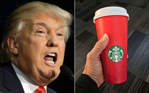 Donald Trump cũng có cái nhìn không mấy dễ chịu về chiếc ly đỏ của Starbucks