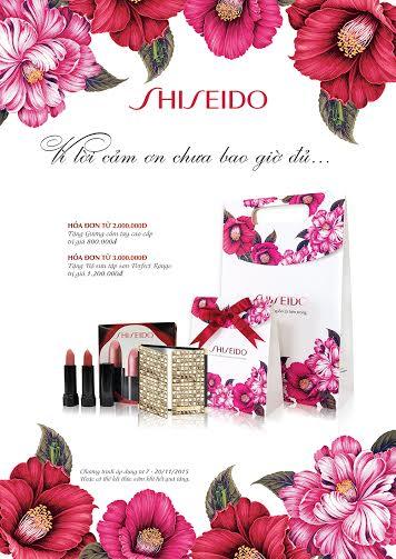 Shiseido sẽ đồng hành cùng bạn mang đến những quà tặng ý nghĩa nhân ngày 20/11 năm nay