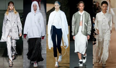 TỪ TRÁI QUA: Hood By Air, Alexander Wang, 3.1 Phillip Lim, Rag & Bone, Balenciaga.