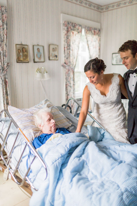 As she introduced her new husband to her grandfather, it brought tears to my eyes.
