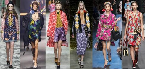 TỪ TRÁI QUA: Gucci, Lanvin, Dries Van Noten, Miu Miu, Dolce & Gabbana, Antonio Marras.