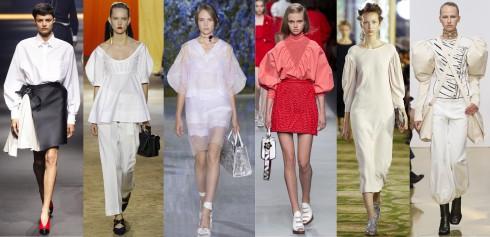 TỪ TRÁI QUA: Lanvin, Céline, Christian Dior, Fendi, Simone Rocha, J.W Anderson.