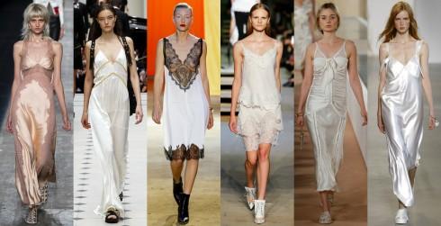 TỪ TRÁI QUA: Alexander Wang, Burberry Prorsum, Céline, Givenchy, Balenciaga, Calvin Klein Collection.