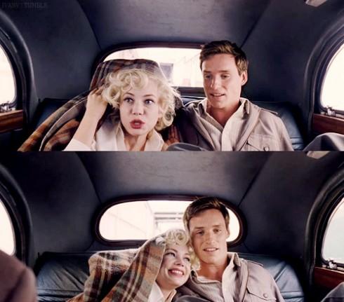 Một cảnh trốn đi chơi của Marilyn và Colin.
