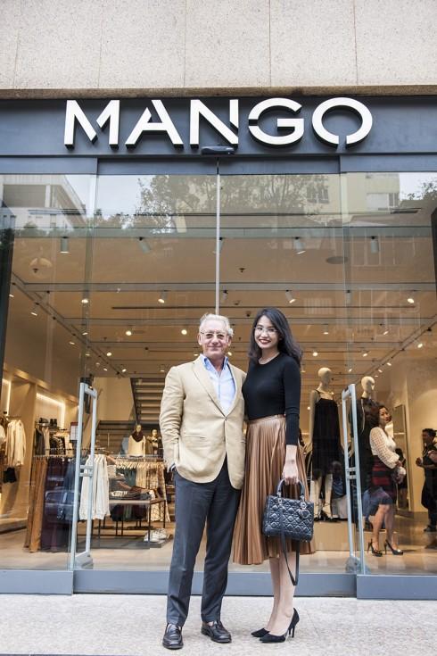 Ngài Isak Andic và bà Trương Hoài Anh – Tổng Giám Đốc Công ty BFF, đơn vị kinh doanh mô hình Mango Mega Store tại Việt Nam