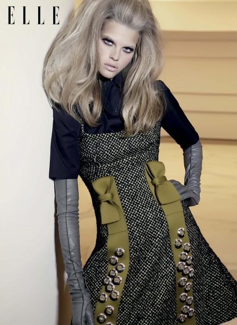 Trang phục và găng tay Prada