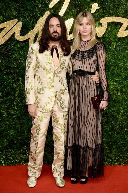 Giám đốc sáng tạo của Gucci Alessandro Michele và người mẫu Georgia May Jagger