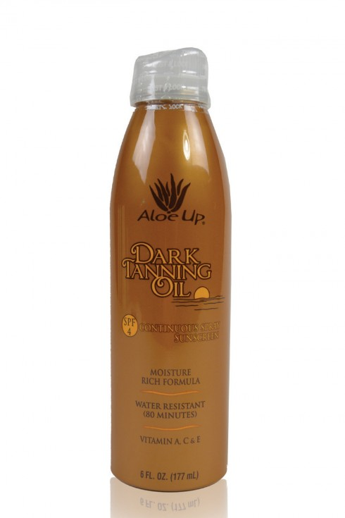 Aloe Up SPF 4 Dark Tanning Oil Continuous Spray