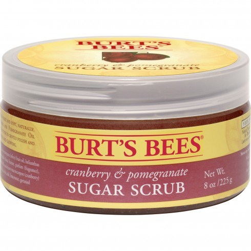 BURT'S BEES SUGAR SCRUB IN CRANBERRY & POMEGRANATE Burt's Bees Sugar Scrub In Cranberry and Pomergranate