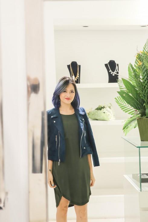 Vẻ đẹp trẻ trung của Thùy Anh trong không gian shop thời trang Le Ciné Paris
