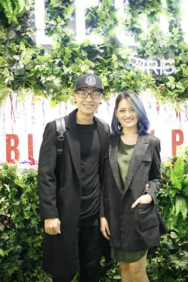Mỹ nam Trần Trung và nữ diễn viên Thùy Anh ton sur ton tham dự sự kiện.