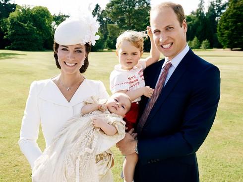 Công nương Kate, hoàng tử William, hoàng tử George và công chúa Charlotte