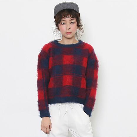 Áo len colour block