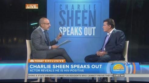 Charlie Sheen dũng cảm và tự nguyện tiết lộ sự thật mình đang bị HIV trong buổi phỏng vấn trực tiếp trên today.show.