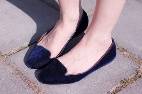 Giày nhung sành điệu