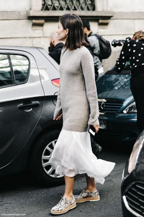 Bạn có thể thoải mái phá bỏ mọi nguyên tắc phối đồ với áo len phom rộng.